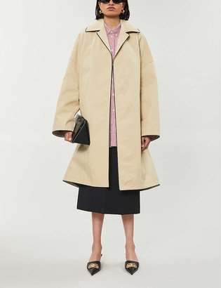 Balenciaga Oversized cotton-blend coat