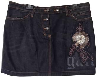 Galliano Black Denim - Jeans Skirt for Women