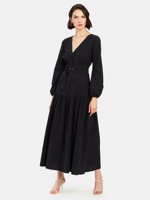 Free People Kendra V-Neck Midi Dress
