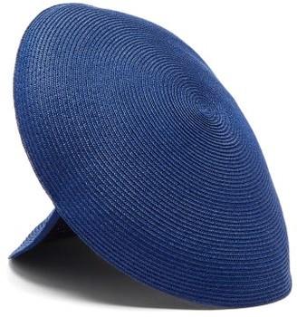 Flapper Antea Panelled Paper-blend Straw Hat - Blue