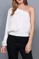 Do & Be Smocked One Shoulder Top