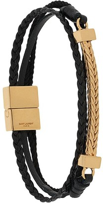 Saint Laurent Braided Curb Chain Bracelet