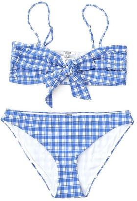 Ganni Plaid Two-Piece Bikini