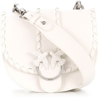 Pinko Woven Detail Foldover Top Shoulder Bag