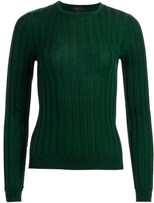 Saks Fifth Avenue COLLECTION Wide Rib-Knit Wool Sweater