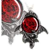 Alchemy Gothic Blood Moon Pendant w/ Necklace