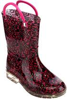 Jelly Beans GE02 Girl's Pull-On Strap Clear Heel Mid-Calf Rainy Boots, Color:, Size: