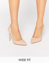 Faith Wide Fit Chloe Nude Court Shoes