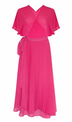 Jovonna London Ellington Dress Wrap Pleated Pink - extra small