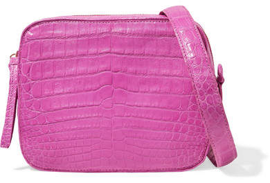 Nancy Gonzalez Crocodile Camera Bag - Fuchsia