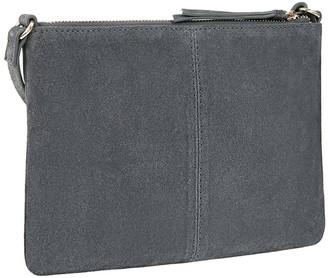 Accessorize Suede Cross Body Bag - Grey