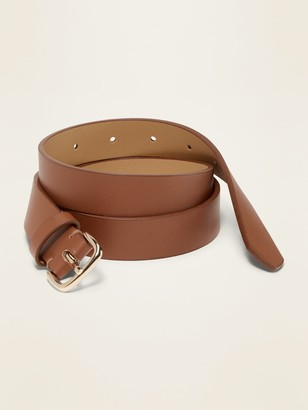 "Old Navy Faux-Leather Belt for Women (1"")"