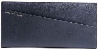 Smythson Panama grained-effect wallet