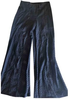 Bel Air Black Cotton Trousers for Women