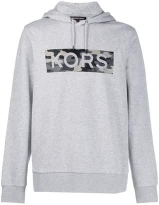 Michael Kors long sleeve camouflage logo hoodie