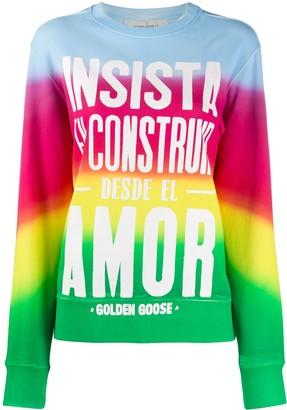 Golden Goose Slogan Print Sweatshirt
