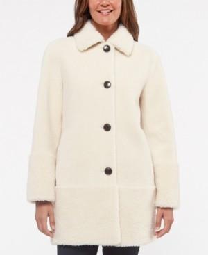 Kate Spade Faux-Sherpa Teddy Coat