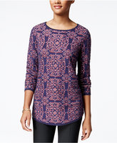 Charter Club Damask-Print Jacquard Sweater, Only at Macy's