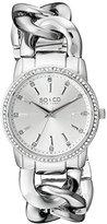 SO&CO New York Women's 5071.1 SoHo Quartz Crystal Accent Stainless Steel Chain Link Bracelet Watch
