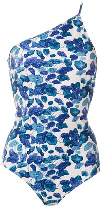 Adriana Degreas Printed One Shoulder Swimsuit