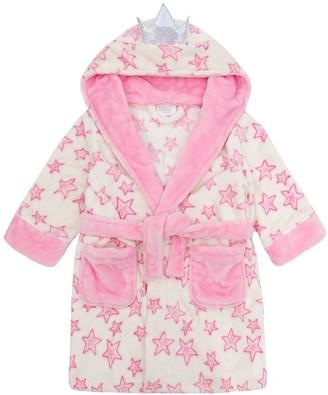 Minikidz Girls Fairy Wings & Crown Princess Dressing Gown Cream& Pale Pink 2-3
