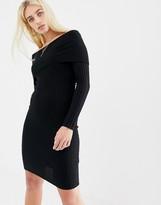 Noisy May bardot knitted bodycon dress