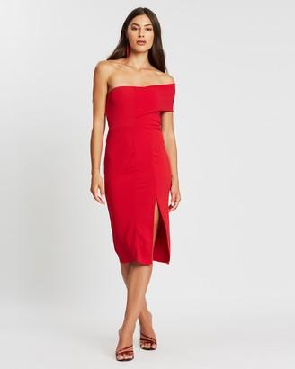 Missguided One-Shoulder Bodycon Midi Dress