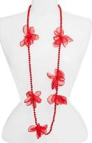 Stella + Ruby Long Beaded Chiffon Necklace