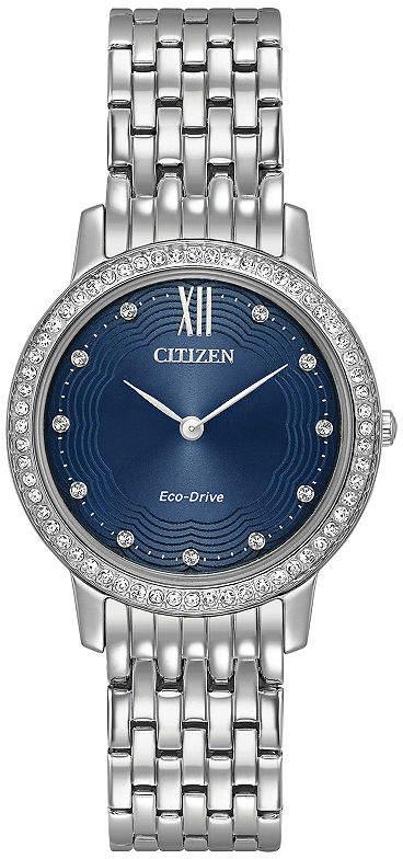 Citizen Womens Silver Tone Bracelet Watch-Ex1480-58l