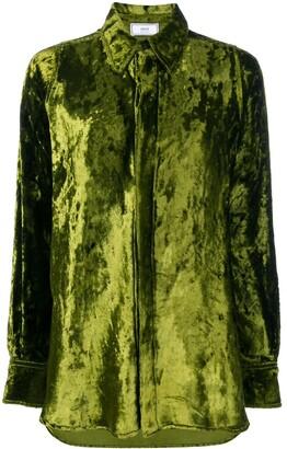 Ami Long Velvet Shirt
