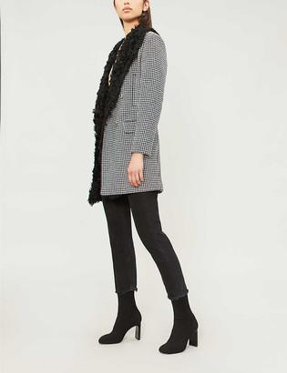 Pinko Martino houndstooth wool-blend jacket