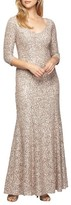 Alex Evenings Women's Beaded A-Line Gown