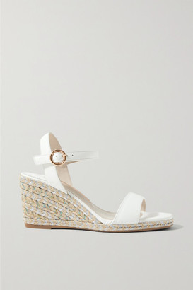 Sophia Webster Lucita Leather Espadrille Wedge Sandals - White