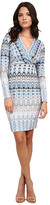Hale Bob Frontier Fashion V-Neck Faux Wrap Dress