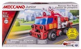 Meccano Erector Junior - Rescue Fire Truck with Lights and Sounds Model Building Kit