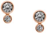 Fossil Glitz Rose-Gold Tone Steel Earrings