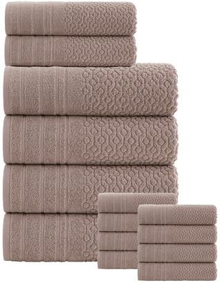 Enchante Home Folles Turkish Cotton 14Pc Towel Set