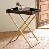 Espresso Butler Tray + Teak Stand