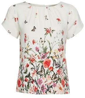 Dorothy Perkins Womens **Billie & Blossom Petite Ivory Floral Border Shell Top