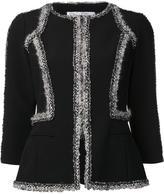 Oscar de la Renta boucle trimmed jacket - women - Polyester/Acetate - 14