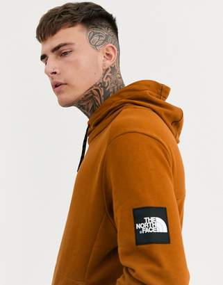 The North Face Fine Alpine hoodie in camel-Brown