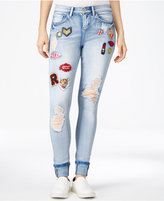 Indigo Rein Juniors' Patch Ripped Skinny Jeans