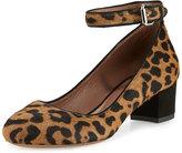 Tabitha Simmons Martha Calf Hair Ankle-Strap Pump, Leopard