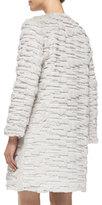 Milly Faux-Fur Long Coat