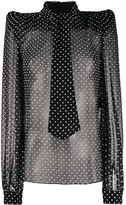 Saint Laurent polka dots blouse
