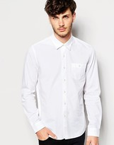 Peter Werth Textured Formal Shirt In Slim Fit - White