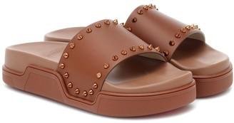 Christian Louboutin Pool Stud leather slides