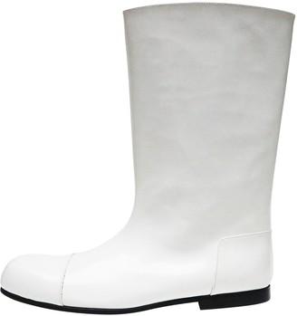 Comme des Garcons White Leather Boots