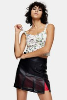 Topshop Womens Idol Ivory Floral Print Ruffle Cami Top - Ivory