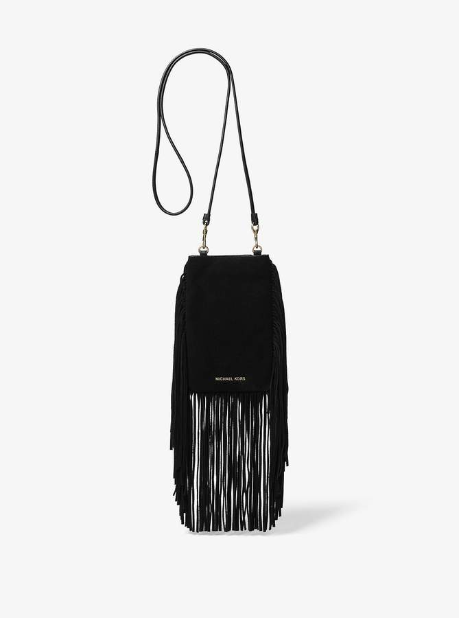 819b7d8fa39b Michael Kors Suede Handbag - ShopStyle